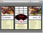 Digital Menu Board by Gloria Roubal